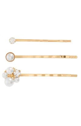 Tasha 3-Pack Imitation Pearl & Crystal Bobby Pins