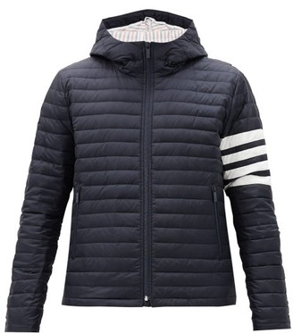 Thom Browne Four-bar Hooded Quilted Down Jacket - Navy