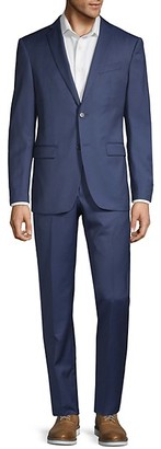 John Varvatos Slim-Fit Pinstripe Wool Suit