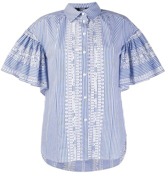 Karl Lagerfeld Paris embroidered striped Shirt