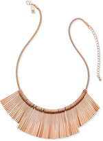 INC International Concepts Gold-Tone Fringe Collar Necklace, Created for Macy's