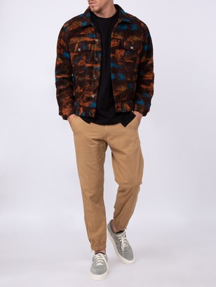 Just Don Multicolored Wool-blend Jacket