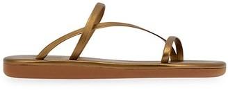 Ancient Greek Sandals Parthena Metallic Leather Sandals