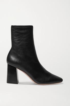 Loeffler Randall Elise Leather Ankle Boots - Black