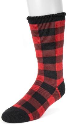 Muk Luks Men's 1-pack Heat Retainers Thermal Solid Socks