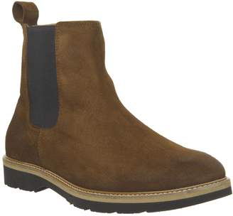 Ask the Missus Igloo Chelsea Boots Rust Suede