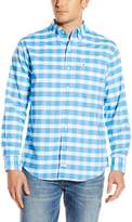 Izod Men's Long Sleeve Newport Oxford Large Plaid Shirt