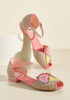 Cone and Get It Peep Toe Flat in 37