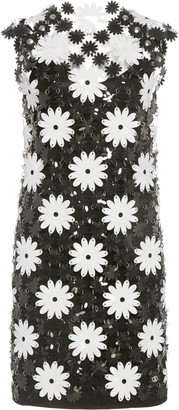 Paco Rabanne Daisy-Motif Chainmail Mini Dress