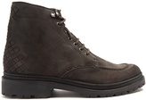 Bottega Veneta Intrecciato suede lace-up boots