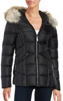 Dawn Levy Niki Fur-Trim Hooded Down Puffer Jacket