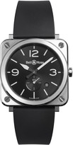 Bell & Ross Aviation BR S black strap watch