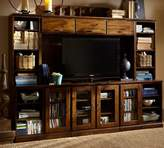 Pottery Barn Printer's Large Media Suite with Hutch, Tuscan Chestnut
