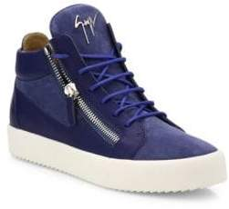 Giuseppe Zanotti Leather & Suede High-Top Sneakers