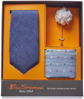 Ben Sherman 3Pc Harris Blue Linen & Silk-Blend Tie Set