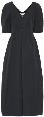 Jil Sander Cotton gabardine midi dress