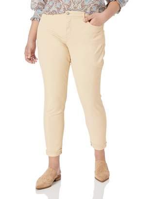 NYDJ Women's Size Plus AMI Skinny Ankle with Cuff Jean