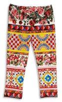 Dolce & Gabbana Toddler's, Little Girl's & Girl's Floral Printed Leggings