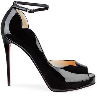 Christian Louboutin Chick Patent Leather Ankle-Strap Pumps