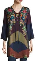 Johnny Was Ludios Tie-Front Georgette Tunic, Petite