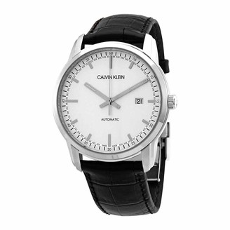 Calvin Klein Men's Stainless Steel Automatic Watch with Leather Strap Black 22 (Model: K5S341CX)
