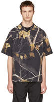 Alexander Wang Black Winter Camo Hawaiian Shirt