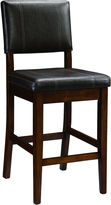 Linon Triena Milano Counter-Height Upholstered Barstool with Back