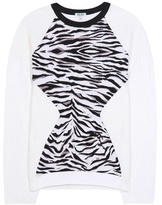 Kenzo Tiger Stripes metallic wool-blend sweater