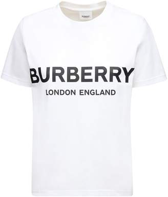 Burberry Oversize Printed Cotton Jersey T-shirt