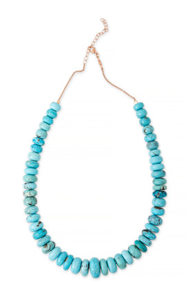 Jacquie Aiche 14K Rose Gold Medium Graduated Turquoise Beaded Necklace