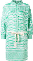 Rough Studios - multi-pattern belted shirt dress - women - Cotton - One Size