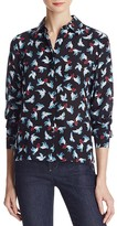 Alice + Olivia Willa Printed Silk Shirt
