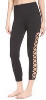 Zella Women's Lace It Up High Waist Midi Leggings