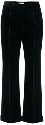 Saint Laurent High-rise cropped corduroy pants