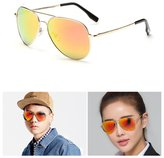 RuSong Polarized Premium Full Mirrore Aviator Sunglasses 3025 w/ Flash Lens Uv400 (, 62)