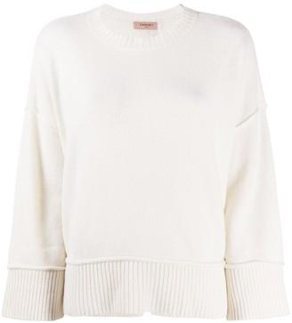 Twin-Set Ribbed-Edge Sweater