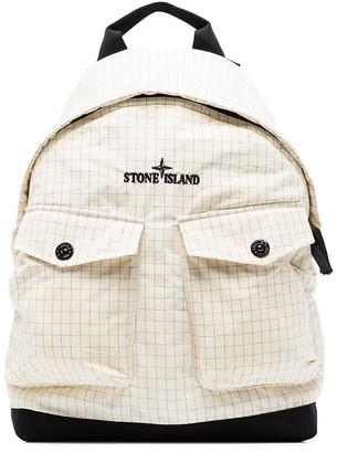 Stone Island Reflective Logo-Embroidered Backpack
