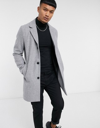 Jack and Jones Originals overcoat in grey