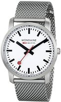 Mondaine Simply Elegant Women's Quartz Watch with White Dial Analogue Display and Silver Stainless Steel Bracelet A400.30351.16SBM