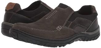 Nunn Bush Quest Moc Toe Slip-On (Charcoal) Men's Shoes