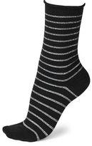 Bleu Foret Lurex Striped Wool-Blend Socks