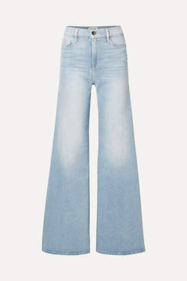 Frame Le Palazzo High-rise Wide-leg Jeans - Light denim