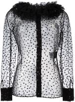 Saint Laurent Victorian collar blouse - women - Polyamide/Polyester - 38