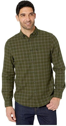Fjallraven Ovik Flannel Shirt (Deep Forest) Men's Long Sleeve Button Up