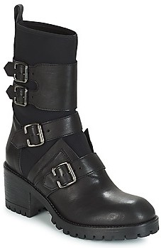NOW MARCHE women's Low Ankle Boots in Black