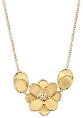 Marco Bicego Petali 18K Yellow Gold & Diamond Flower Pendant Necklace