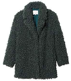 Tibi Women's Faux Fur Peacoat