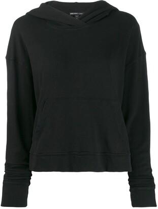 James Perse vintage fleece cropped hoodie