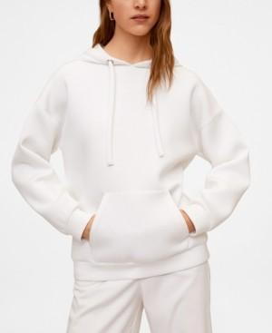 MANGO Women's Hooded Flowy Sweatshirt
