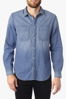 7 For All Mankind Double Pocket Denim Shirt In Light Indigo